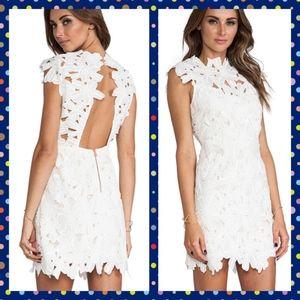 Dolce Vita Jayleen White Crochet Lace Cutout Dress